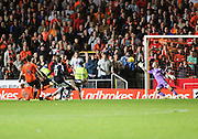 Scott Bain pulls off a brilliant save from Simon Murray to keep Dundee's chances alive - Dundee United v Dundee at Tannadice<br /> - Ladbrokes Premiership<br /> <br />  - &copy; David Young - www.davidyoungphoto.co.uk - email: davidyoungphoto@gmail.com
