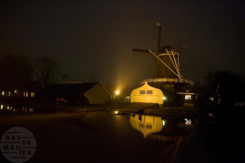 De molen aan de Leidsekade in Utrecht