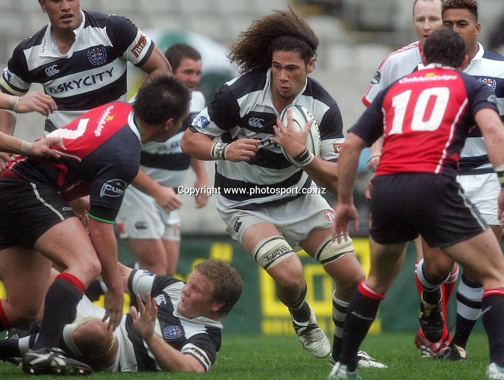 Kurtis Haiu in action during the Air New Zealand Cup rugby union match between Auckland and Tasman at Eden Park, Auckland, New Zealand on Sunday 6 August, 2006. Auckland won the match 46 - 6. Photo: Hannah Johnston/PHOTOSPORT<br />