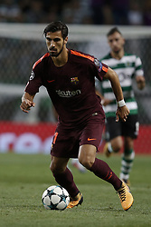 September 27, 2017 - Lisbon, Portugal - Barcelona's midfielder Andre Gomes in action during  the Champions League 2017/18 match between Sporting CP vs FC Barcelona, in Lisbon, on September 27, 2017. (Credit Image: © Carlos Palma/NurPhoto via ZUMA Press)