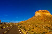 Cerro Castellan (Castolon Peak), Chihuahuan Desert, along Ross Maxwell Scenic Drive in Big Bend National Park, Texas USA.