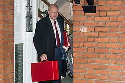 © Licensed to London News Pictures. 20/12/2017. London, UK. First Secretary of State DAMIAN GREEN seen leaving his London home on December 20, 2017. Deputy Prime Minister Damian Green has resigns in the wake of controversy over claims of pornography on his Commons computer. Green was already under investigation for allegedly propositioning former Tory activist, Kate Maltby. Photo credit: Ben Cawthra/LNP