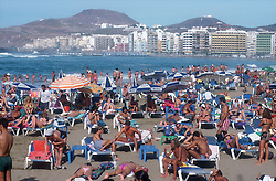 Las Canteras beach at Las Palmas; Gran Canaria; Canary Islands,