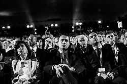 Luigi Di Maio (C) take part at the annual meeting of Confcommercio, enterprises, the professional and the Self-employment activities italian general confederation.Rome 7 June 2018. Christian Mantuano / OneShot