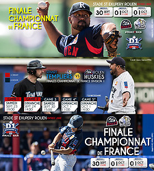 Baseball French Finals 2017, internet advertising.