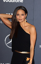 THANDIE NEWTON arrives at the Laureus Sport Awards held at the Queen Elizabeth II Centre, London, Monday February 6, 2012. Photo By i-Images