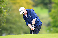 John Clarke (Ardee) during the final round of the All Ireland Four Ball Interclub Final, Roe Park resort, Limavady, Derry, Northern Ireland. 15/09/2019.<br /> Picture Fran Caffrey / Golffile.ie<br /> <br /> All photo usage must carry mandatory copyright credit (© Golffile | Fran Caffrey)