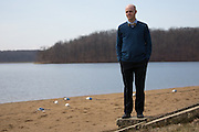 Matt Townsley, Director of Instruction and Technology at Solon Community Schools, poses for a portrait at Lake McBride Beach in Solon Iowa on Tuesday, March 8, 2016.