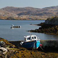 May 2015 , The Outer Hebrides , Scotland , UK - Walking the Hebridean Way in Lewis and Harris with Mark Rowe