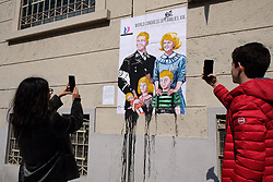 Italy, Milan -March 28, 2019.Provocation of the artist Cristina Donati Meyer about the World congress of Families XIII in Verona 29-31 March 2019. (Credit Image: © Albertico/Fotogramma/Ropi via ZUMA Press)