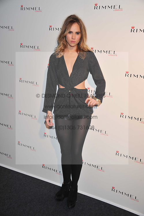 SUKI WATERHOUSE at a party hosted by Rimmel London to celebrate the 10 year partnership with Kate Moss held at Battersea Power Station, London SW8 on 15th September 2011.