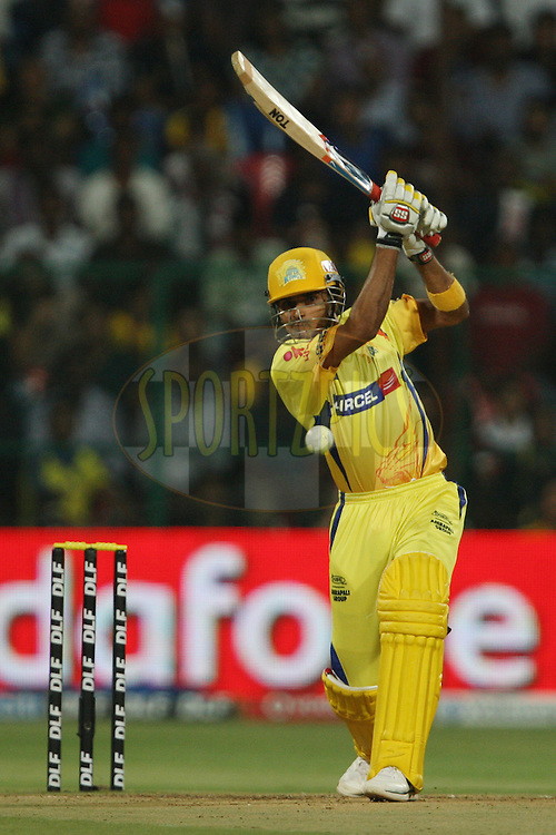 Subramaniam Badrinath during the IPL 2012 Season 5 eliminator match between The Mumbai Indians and The Chennai Superkings held at the M. Chinnaswamy Stadium, Bengaluru on the 23rd May 2012..Photo by Jacques Rossouw/IPL/SPORTZPICS
