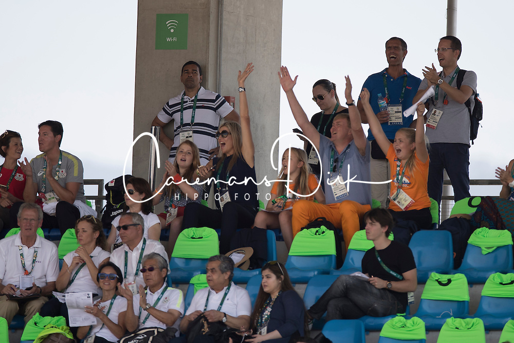 King Willem Alexander of Holland, Queen Maxima, children, Amalia, Alexia, Ariane<br /> also in the picture : Ingmar Devos (President FEI)<br /> Olympic Games Rio 2016<br /> © Hippo Foto - Dirk Caremans<br /> 16/08/16