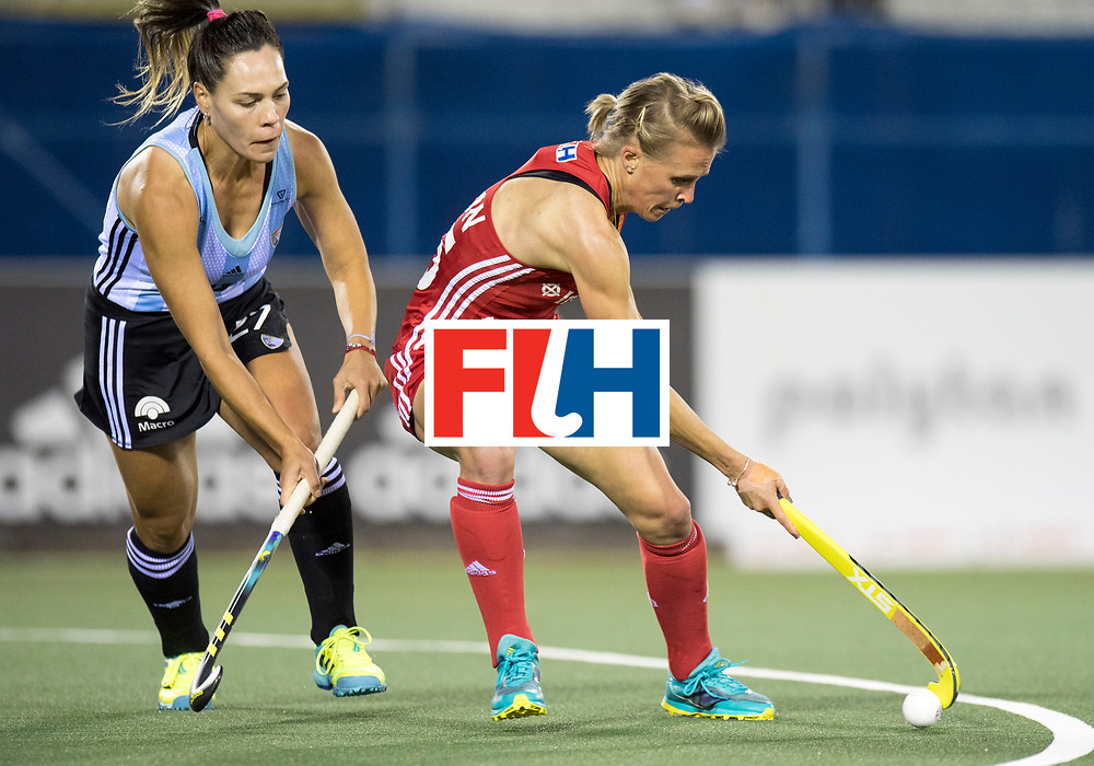 AUCKLAND - Sentinel Hockey World League final women<br /> Match id 10298<br /> 08 Argentina v England 1-0<br /> Foto: Noel Barrionuevo and Alex Danson.<br /> WORLDSPORTPICS COPYRIGHT FRANK UIJLENBROEK