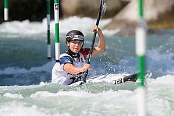 Romane PRIGENT of France during the Canoe Single (WK1) Womens Semi Final race of 2019 ICF Canoe Slalom World Cup 4, on June 28, 2019 in Tacen, Ljubljana, Slovenia. Photo by Sasa Pahic Szabo / Sportida