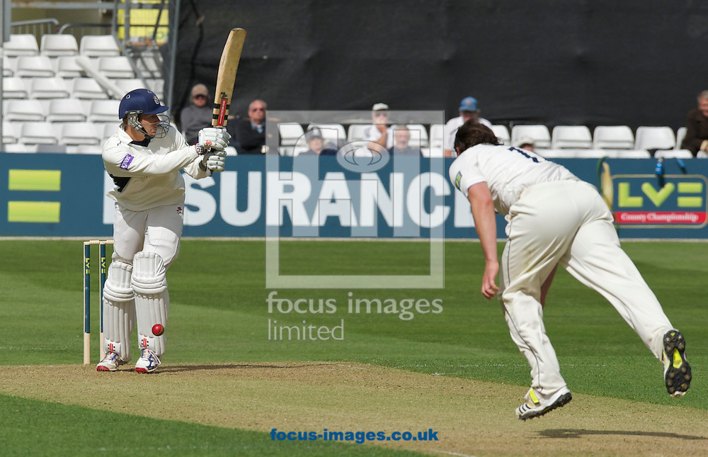 Picture by Alan Stanford/Focus Images Ltd +44 7915 056117.29/04/2013.Danny Briggs of Hampshire County Cricket Club during the LV County Championship Div Two match at the County Ground, Chelmsford, Chelmsford..