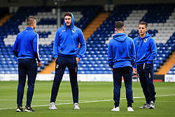 Bristol Rovers players check out the pitch at Gigg Lane - Mandatory by-line: Matt McNulty/JMP - 19/08/2017 - FOOTBALL - Gigg Lane - Bury, England - Bury v Bristol Rovers - Sky Bet League One