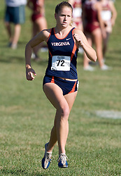 Virginia Cavaliers Sara Casscells (72)..The Atlantic Coast Conference Cross Country Championships were held at Panorama Farms near Charlottesville, VA on October 27, 2007.  The men raced an 8 kilometer course while the women raced a 6k course.
