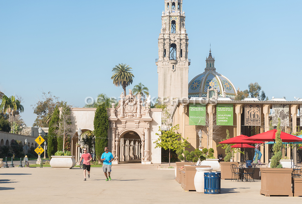 Running Through Balboa Park in San Diego California
