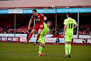 Andy Bond during the Sky Bet League 2 match between Crawley Town and Hartlepool United at the Checkatrade.com Stadium, Crawley, England on 19 March 2016. Photo by Jon Bromley.
