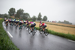 The gruppetto climbs the last, main climb of the 76,1 km first stage of the 2016 Ladies' Tour of Norway women's road cycling race on August 12, 2016 between Halden and Fredrikstad, Norway. (Photo by Balint Hamvas/Velofocus)