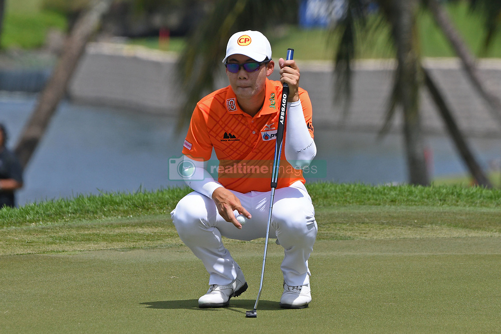 SINGAPORE, Jan. 20, 2019  Thailand's player Jazz Janewattananond competes during the last day of the Singapore Open golf tournament at the Sentosa Golf Club in Singapore on Jan 20, 2019. (Credit Image: © Then Chih Wey/Xinhua via ZUMA Wire)