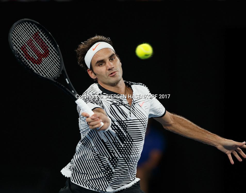 ROGER FEDERER ,Herren Finale<br /> <br /> Australian Open 2017 -  Melbourne  Park - Melbourne - Victoria - Australia  - 29/01/2017.