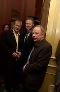 John Fortune, Rory Bremner and John Bird. The Oldie of the Year Awards lunch, Simpson's -in-the-Strand, London. 18 March 2003. © Copyright Photograph by Dafydd Jones 66 Stockwell Park Rd. London SW9 0DA Tel 020 7733 0108 www.dafjones.com