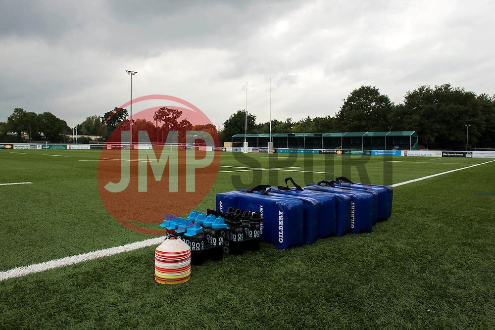 A general view of Vallis Way - Mandatory byline: Dougie Allward/JMP - 07966386802 - 10/10/2015 - RUGBY - Vallis Way -West Ealing,England - Ealing Trailfinders v Bristol Rugby - Greene King IPA Championship
