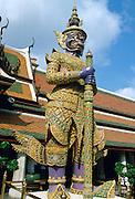 Buddha Statue outside the Temple of the Emperor, Bangkok, Thailand