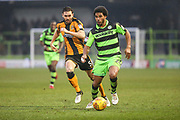 Forest Green Rovers Reuben Reid(26) runs forward during the EFL Sky Bet League 2 match between Forest Green Rovers and Cambridge United at the New Lawn, Forest Green, United Kingdom on 20 January 2018. Photo by Shane Healey.