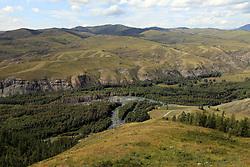 June 1, 2017 - China - Xinjiang, CHINA-June 1 2017: (EDITORIAL USE ONLY. CHINA OUT) Scenery of the border between China and Khazakstan in Burqin,northwest China's Xinjiang Uygur Autonomous Region. (Credit Image: © SIPA Asia via ZUMA Wire)