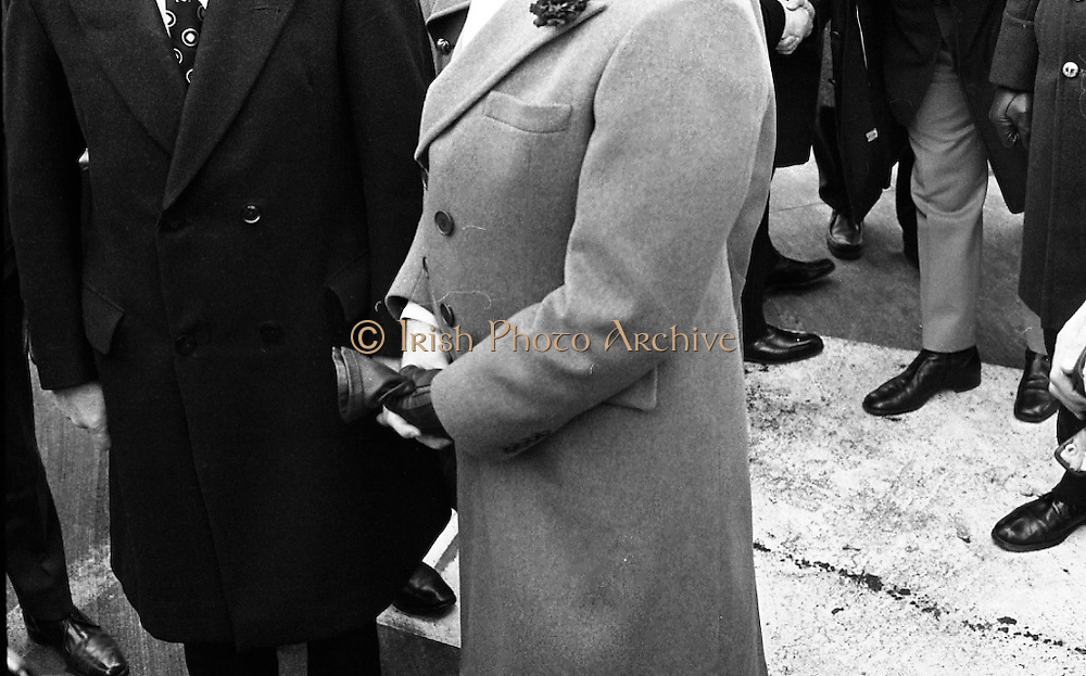 Canadian Prime Minister, Pierre Trudeau arrives in Dublin    (J17).14.03.1975.03.14.1975.3rd April 1975..Pierre Trudeau arrived today for a brief visit to Ireland. He was greeted by the Taoiseach Mr. Liam Cosgrave on his arrival at Dublin Airport.