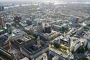 Nederland, Zuid-Holland, Rotterdam, 23-10-2013; binnenstad Rotterdam, met in groen glas Beurs World Trade Center aan de Coolsingel en meer in de voorgrond het Stadhuis.<br /> Innercity Rotterdam with WTC and city hall.<br /> luchtfoto (toeslag op standard tarieven);<br /> aerial photo (additional fee required);<br /> copyright foto/photo Siebe Swart