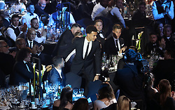 Tottenham Hotspur's Dele Alli makes his way to the stage during the Professional Footballers' Association Awards 2017 at the Grosvenor House Hotel, London