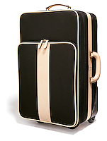 Coach suitcase on white background