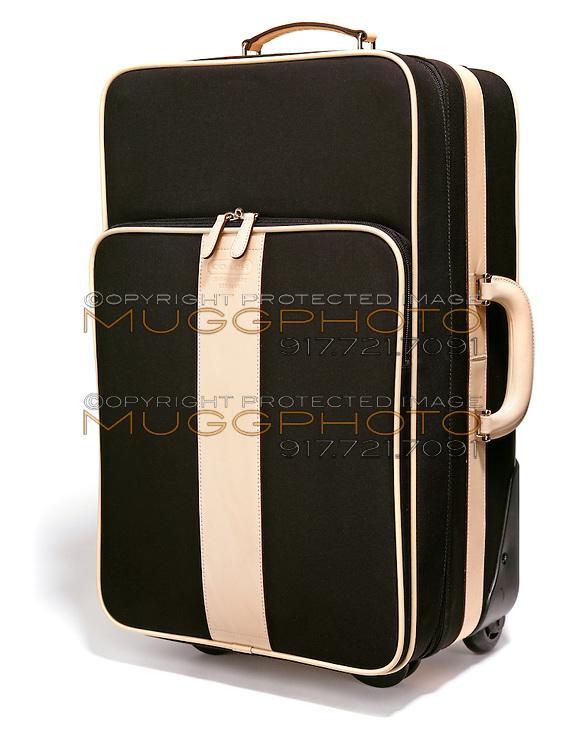 Coach suitcase on white background