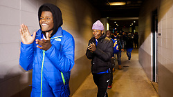 Pop Warner national champion NW Raiders players react as they get a first glimpse of Lincoln Financial Field.  <br /> <br /> Check elsewhere on this site for all images of this shoot. Selected images are published as part of photo essay on WHYY's NewsWorks.org. - http://www.newsworks.org/index.php/local/item/89516-young-champions-celebrated-at-eagles-game-photos<br /> <br /> (&copy;2015, All Rights reserved - Bastiaan Slabbers/BasSlabbers.com)