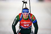 &Ouml;STERSUND, SVERIGE - 2017-12-02: Simon Eder under herrarnas sprint t&auml;vling under IBU World Cup Skidskytte p&aring; &Ouml;stersunds Skidstadion den 2 december 2017 i &Ouml;stersund, Sverige.<br /> Foto: Johan Axelsson/Ombrello<br /> ***BETALBILD***