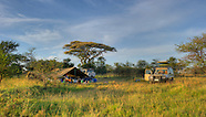 Tent camp in Serengeti National Park