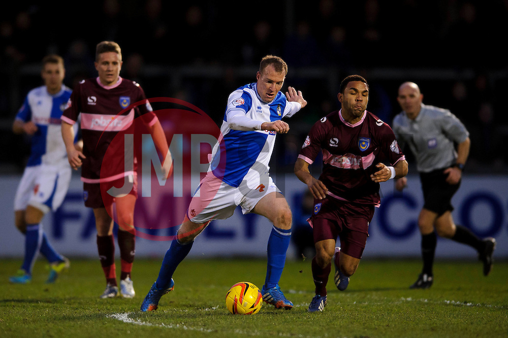 Bristol Rovers Forward David Clarkson (SCO) in action during the match - Photo mandatory by-line: Rogan Thomson/JMP - Tel: Mobile: 07966 386802 - 21/12/2013 - SPORT - FOOTBALL - Memorial Stadium, Bristol - Bristol Rovers v Portsmouth - Sky Bet League Two.