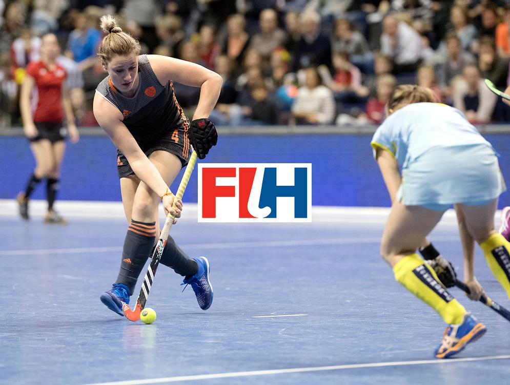 BERLIN - Indoor Hockey World Cup<br /> SF1 Netherlands - Ukraine<br /> foto: Lieke van Wijk <br /> WORLDSPORTPICS COPYRIGHT FRANK UIJLENBROEK