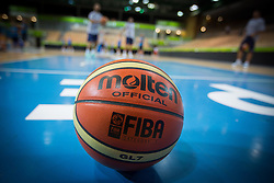 Ball at practice session of team Greece 1 day before the beginning of Eurobasket 2013 on September 3, 2013 in Arena Bonifika, Koper, Slovenia. (Photo by Matic Klansek Velej / Sportida.com)