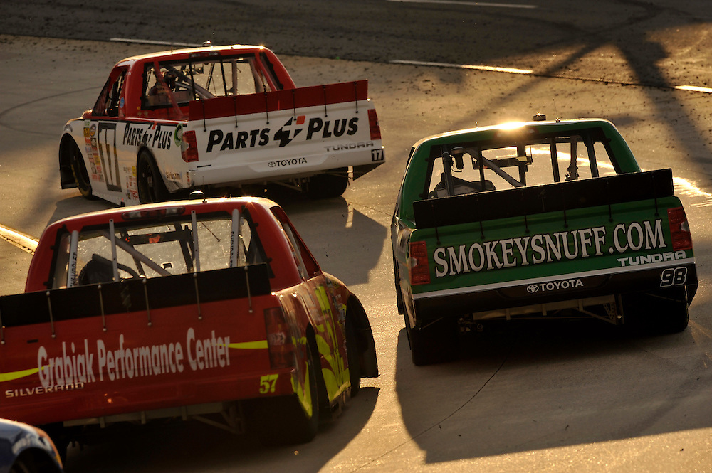 28-29 March, 2014, Martinsville, Virginia USA<br /> Johnny Sauter, Timothy Peters, Norm Benning<br /> &copy;2014 Scott R LePage <br /> LAT Photo USA