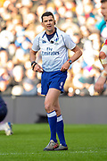 Referee Pascal Gauzere of France during the Guinness Six Nations match between Scotland and Wales at BT Murrayfield Stadium, Edinburgh, Scotland on 9 March 2019.