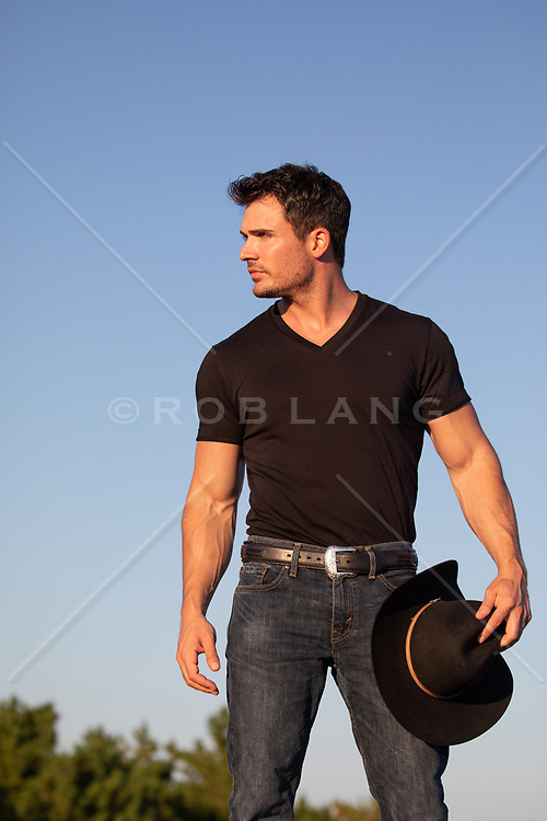 how cowboy outdoors on a road