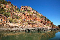 Stunning red sandstone cliffs line the Sale River.