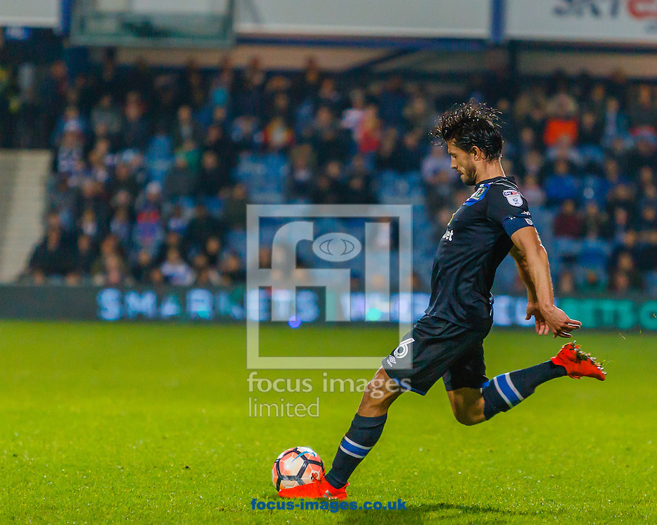 Jason Lowe of Blackburn Rovers shoots at goal during the third round of the FA Cup at the Loftus Road Stadium, London<br /> Picture by Richard Brooks/Focus Images Ltd 07947656233<br /> 07/01/2017