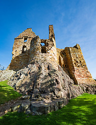 Dirleton Castle in East Lothian , Scotland , UK