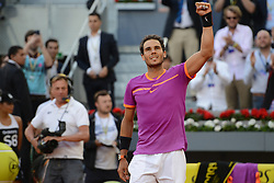 May 14, 2017 - Madrid, Spain - RAFAEL NADAL OF Spain after winning the Mutua Madrid Open tennis tournament. (Credit Image: © Christopher Levy via ZUMA Wire)